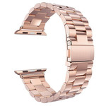 123Watches Apple watch 3 kralen stalen schakel band - rose goud