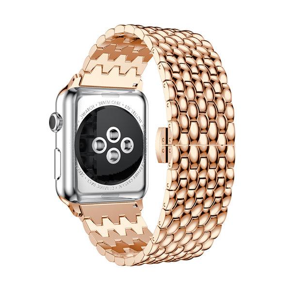 123Watches.nl Apple watch Drache Gliederband - Roségold