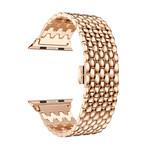 123Watches Apple watch draak stalen schakel band - rose goud