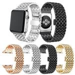 123Watches.nl Apple watch draak stalen schakel band - goud