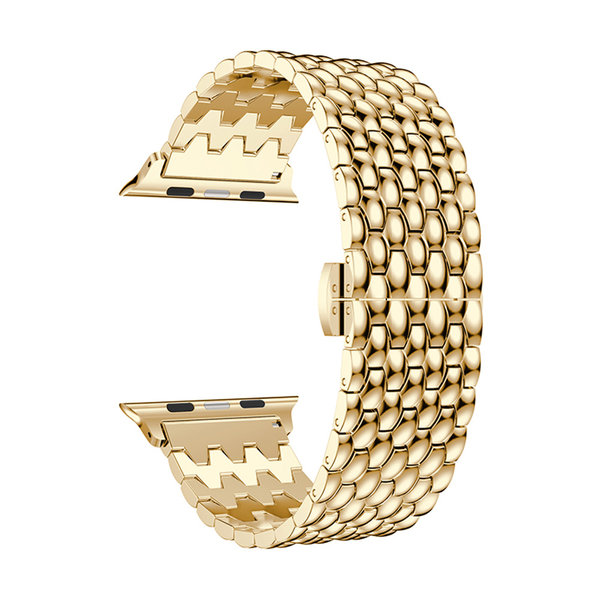 123Watches Apple watch dragon steel link - gold