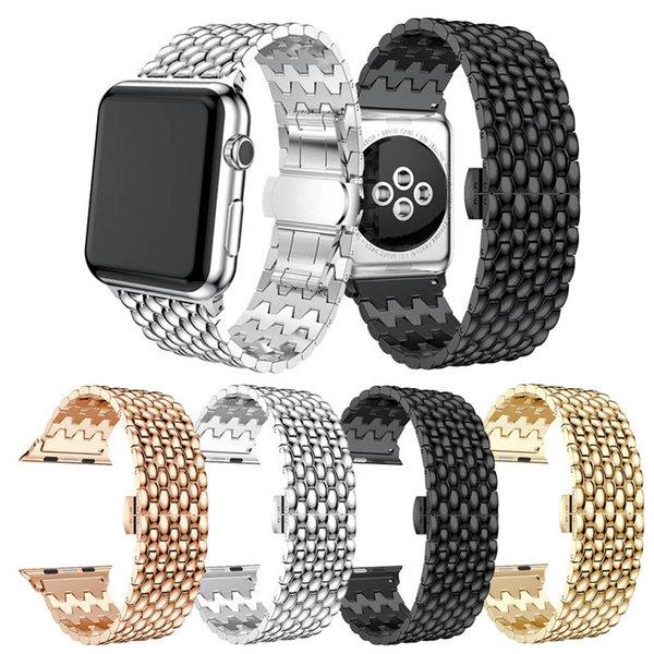 123Watches.nl Apple watch Drache Gliederband - schwarz