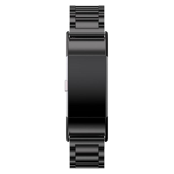 123Watches.nl Fitbit charge 2 3 Perlen Gliederband - schwarz