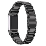 123Watches.nl Fitbit charge 2 3 beads steel link - black