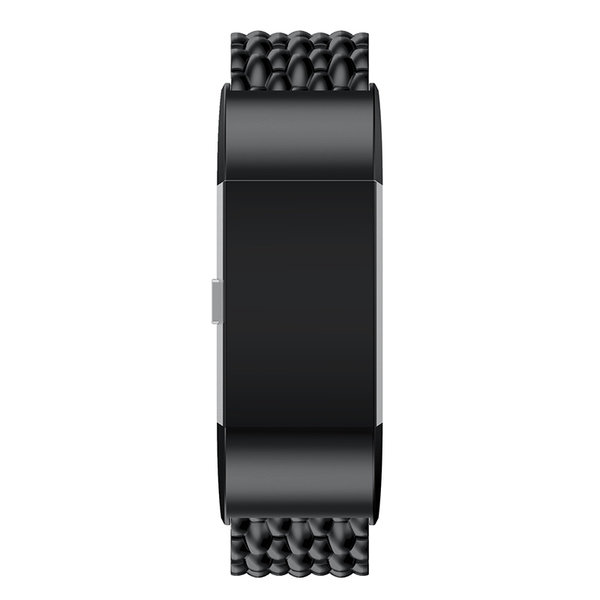 123Watches.nl Fitbit charge 2 dragon steel link - black