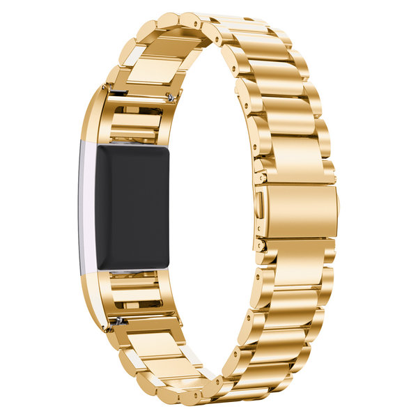 123Watches.nl Fitbit charge 2 3 kralen stalen schakel band - goud