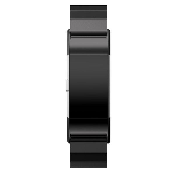 123Watches.nl Fitbit charge 2 stalen schakel band - zwart