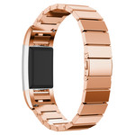 123Watches.nl Fitbit charge 2 stalen schakel band - rose goud