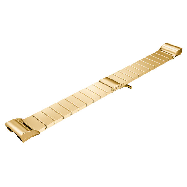 123Watches.nl Fitbit charge 2 stalen schakel band - goud