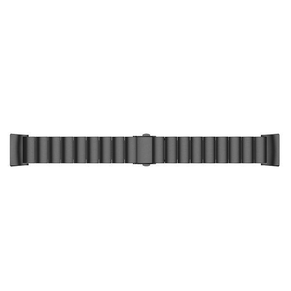 123Watches.nl Fitbit charge 3 stalen schakel band - zwart