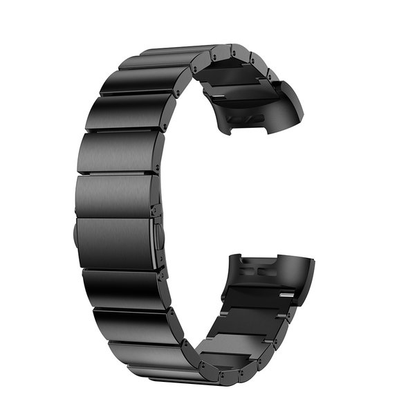 123Watches Fitbit charge 3 & 4 steel link - black