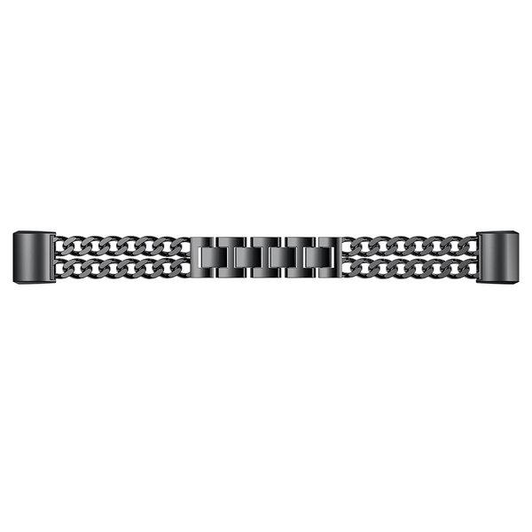 123Watches Fitbit charge 2 cowboy stalen schakel band - zwart