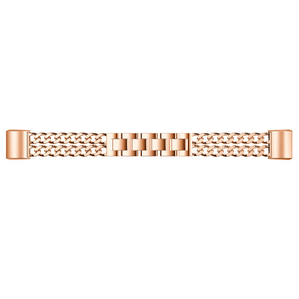 123Watches.nl Fitbit charge 2 cowboy steel link - rose gold