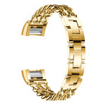 123Watches.nl Fitbit charge 2 cowboy stalen schakel band - goud