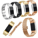 123Watches Fitbit charge 3 & 4 draak stalen schakel band - zwart