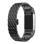 123Watches Fitbit charge 3 & 4 dragon steel link - black