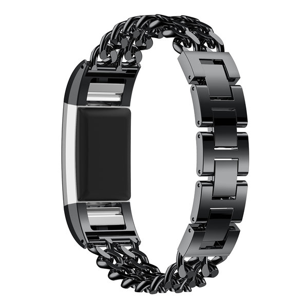 123Watches Fitbit charge 3 & 4 cowboy steel link - black