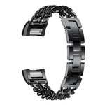 123Watches.nl Fitbit charge 3 cowboy steel link - black