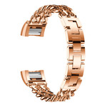 123Watches.nl Fitbit charge 3 cowboy steel link - rose gold