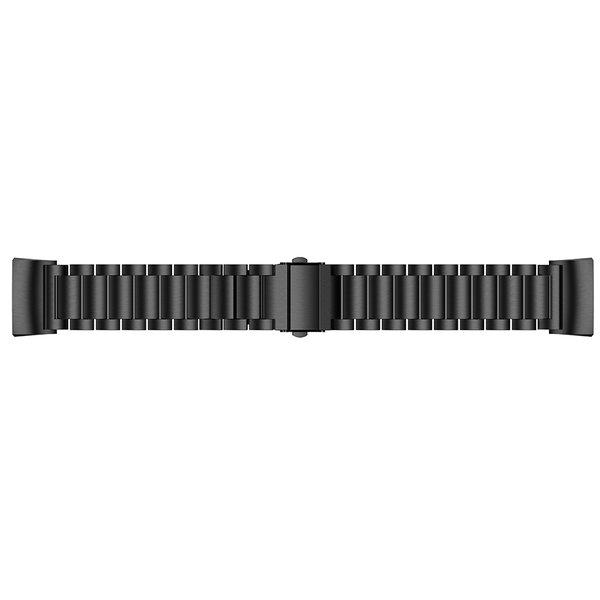 123Watches.nl Fitbit charge 3 kralen stalen schakel band - zwart