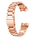 123Watches Fitbit charge 3 & 4 beads steel link - rose gold