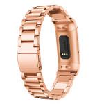 123Watches.nl Fitbit charge 3 kralen stalen schakel band - rose goud