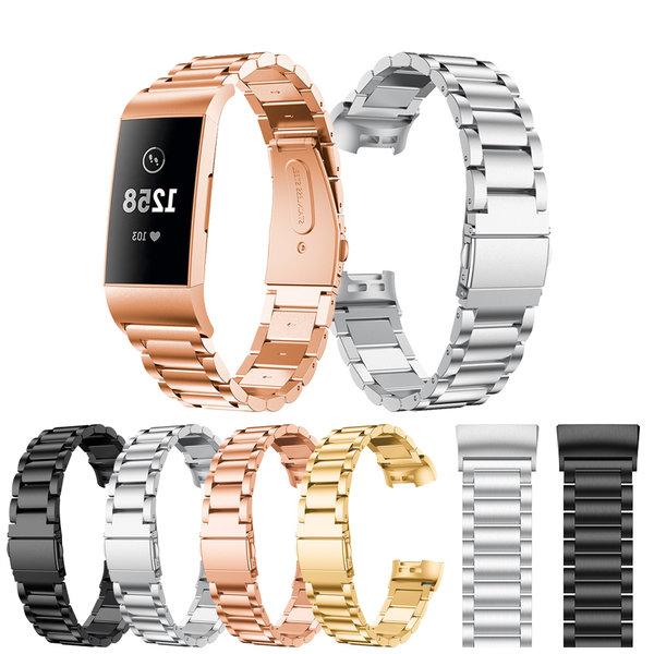 123Watches Fitbit charge 3 & 4 kralen stalen schakel band - goud