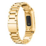 123Watches.nl Fitbit charge 3 beads steel link - gold