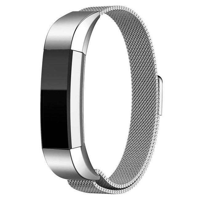 Merk 123watches Fitbit Alta milanese band - zilver
