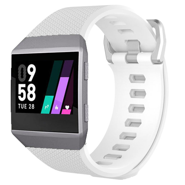 Merk 123watches Fitbit Ionic sport band - wit