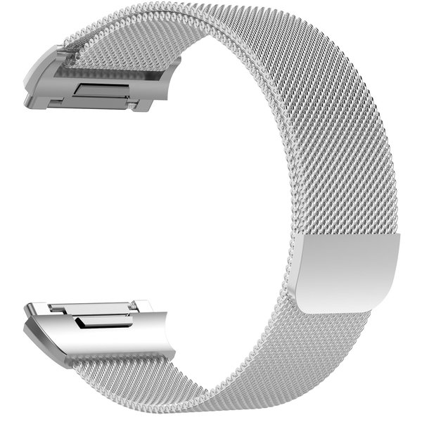 123Watches Fitbit Ionic milanese band - zilver