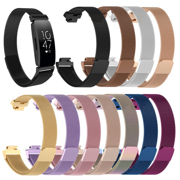 123Watches.nl Fitbit Inspire milanese band - silber