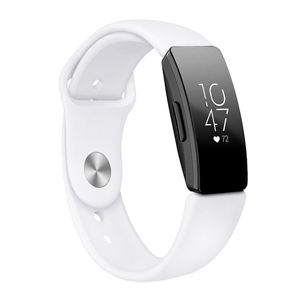 123Watches Fitbit Inspire sport silicone bande - blanc