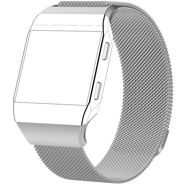 Fitbit Ionic milanese band - zilver