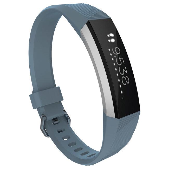 Merk 123watches Fitbit Alta sport band - leisteen