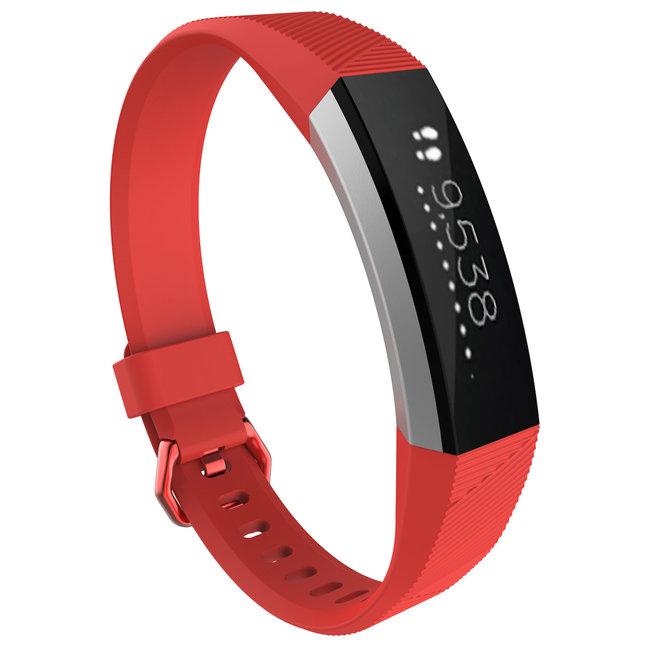 Merk 123watches Fitbit Alta sport band - rood