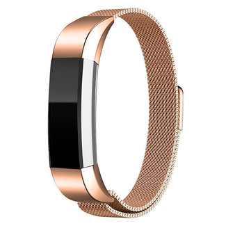 Merk 123watches Fitbit Alta milanese band - rose gold