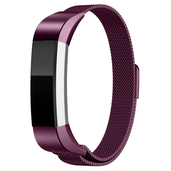 Merk 123watches Fitbit Alta milanese band - paars