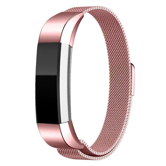 Merk 123watches Fitbit Alta milanese band - roze