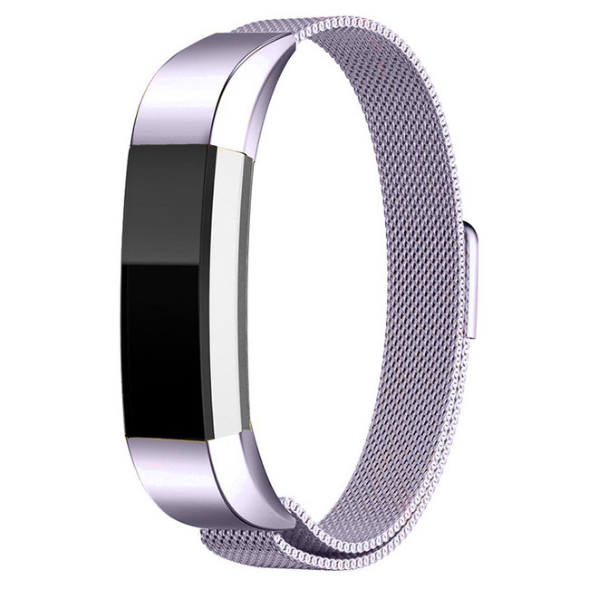 Merk 123watches Fitbit Alta milanese band - lavendel