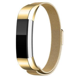 Merk 123watches Fitbit Alta milanese band - goud