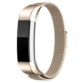 Merk 123watches Fitbit Alta milanese band - champagne