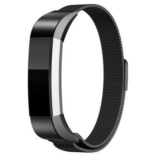 Merk 123watches Fitbit Alta milanese band - zwart