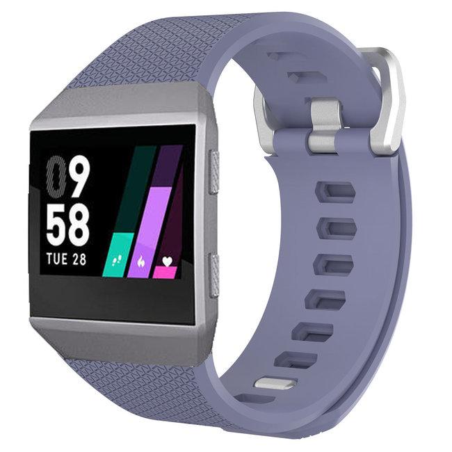 Merk 123watches Fitbit Ionic sport band - lichtgrijs