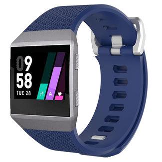 Merk 123watches Fitbit Ionic sport band - donkerblauw