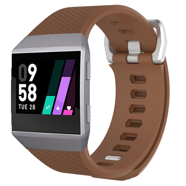 123Watches.nl Fitbit Ionic sport band - bruin