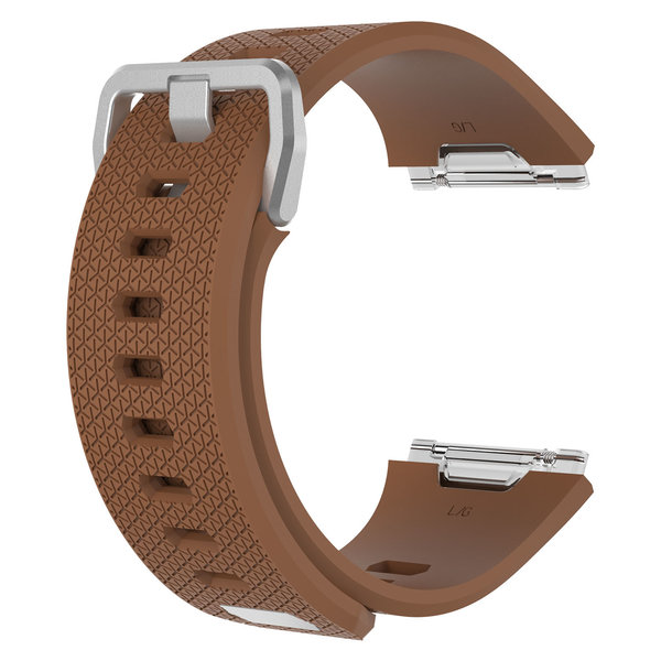 123Watches.nl Fitbit Ionic sport sangle - marron
