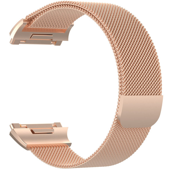 123Watches.nl Fitbit Ionic milanese band - rose goud