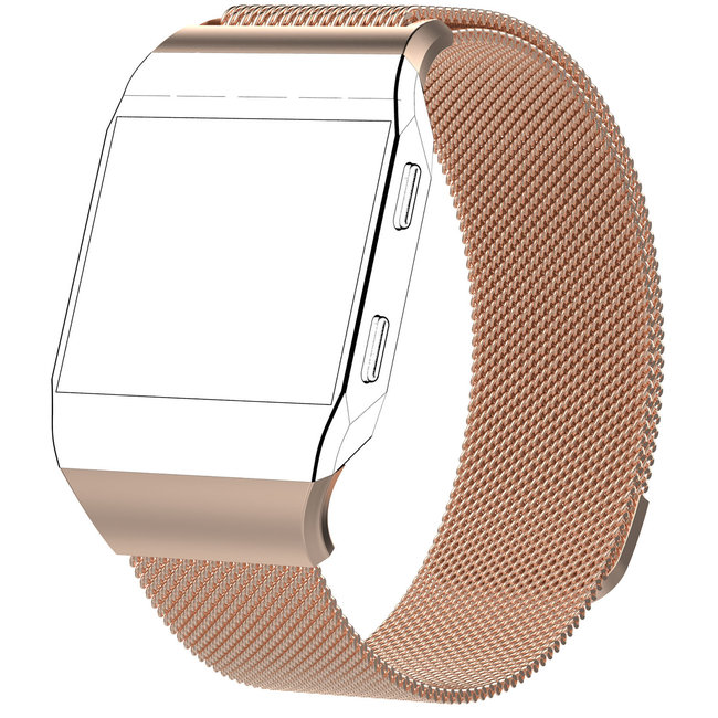 Merk 123watches Fitbit Ionic milanese band - rose goud