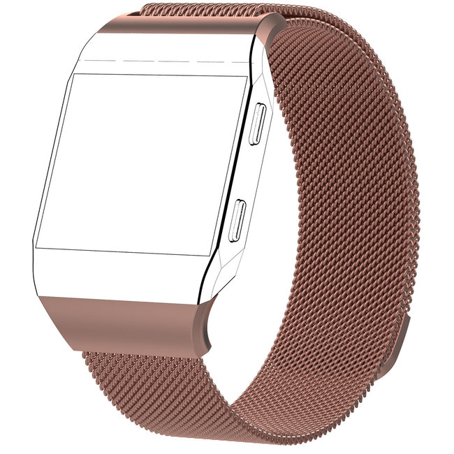 Merk 123watches Fitbit Ionic milanese band - roze